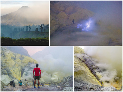 Highlights: Mount Ijen via Bali — Sunrise Hike, Blue Flame, Sulfur Mine, Licin Village