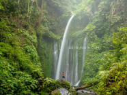 Tiu Kelep Waterfall, in Senaru, Lombok Island, West Nusa Tenggara, Indonesia
