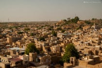 Stone houses at the city center of Jaisalmer, in Rajasthan, India