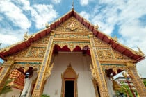 Facade of a temple, in Phrae, Thailand