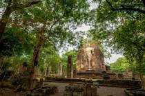 Wat Phra Si Iriyabot, at Aranyik temple group, in Kamphaeng Phet Historical Park, Kamphaeng Phet, Thailand