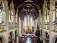 Interiors of Jakarta Cathedral, in Jakarta, Indonesia