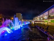 Dancing fountain at SM Lanang Premiere, in Davao City, Philippines