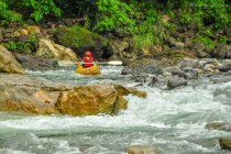 White water kayaking, in Tibiao, Antique
