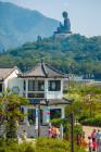 Nong Ping Village and Tian Tan Buddha built on the mountains of Lantau Island, Hong Kong