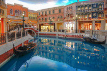 Indoor Italian-inspired canals and gondolas at The Venetian Macau