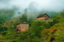 Farm houses in Nagarkot, Nepal