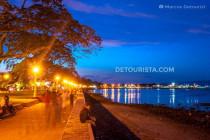 Boulevard in Dumaguete City, Oriental Negros, Philippines