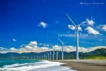 Bangui Windmills in Bangui, Ilocos Norte, Philippines