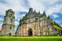 Paoay Church in Paoay, Ilocos Norte, Philippines