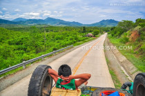 Top loading a jeepney from Puerto Princesa City Center to Sabang Beach, in Palawan