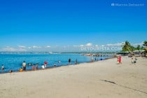 Beachfront at Queen Tuna Park, in General Santos City, South Cotabato, Philippines