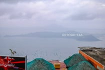 Lake Taal on a hazy day