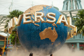 Giant globe at the entrance of Universal Studios Singapore, Reso