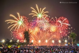 Pyromusical Fireworks Show at Mall of Asia, Metro Manila