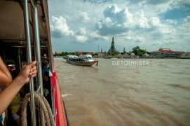 River ferry along Chao Phraya in Bangkok, Thailand