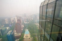 Hazy view from ION Sky