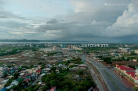 View from Injap Tower Hotel in Diversion Road, Mandurriao, Iloilo City, Philippines