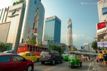 Platinum Mall and Baiyoke Tower in Ratchathewi, Bangkok, Thailand
