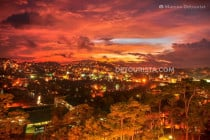 Sunset from SM City Baguio in Baguio City, Benguet, Philippines