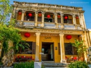 Boutique and Wine Shop in an Old French-colonial building in Hoi An Ancient Town, Quang Nam Province, Vietnam