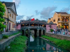 Japanese Covered Bridge under the sunset twilight in Hoi An, Quang Nam, Vietnam