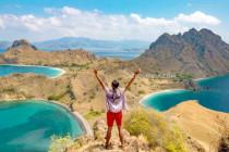 Overlooking Padar Island, in Komodo National Park, East Nusa Tenggara, Indonesia