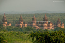 Royal Cenothaphs view from Lakshmi Temple, in Orccha, Madhya Pradesh, India