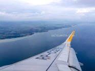 Overlooking General Santos on the flight from Iloilo, in South Cotabato, Philippines