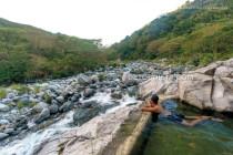 Marcos at Kili hot spring, in Tubo, Abra, Philippines