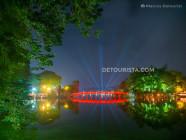 Hoan Kiem Lake at Night in Hanoi, Vietnam