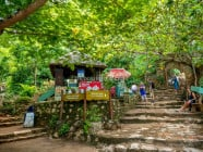 Refreshment and rest area at the Marble Mountains in Da Nang, Vietnam
