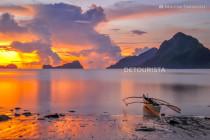 El Nido Islands at Sunset