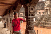 Marcos at Bhaktapur's Durbar Square in Nepal