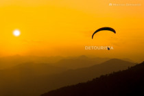 Paragliding at Sunset in Bandipur, Tanahun, Nepal
