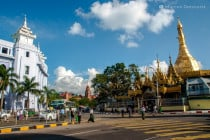 City Hall and Sule Pagoda in Central Yangon, Myanmar