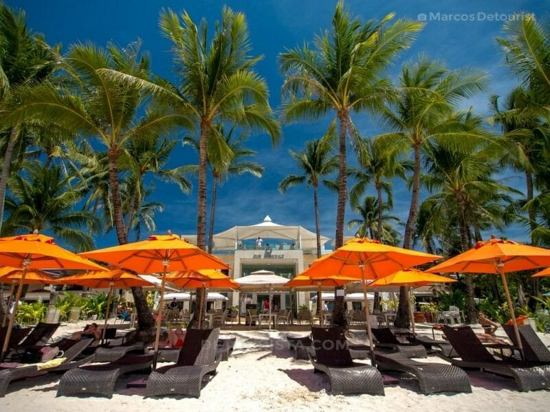 The District beachfront, Station 2, White Beach, Boracay Island,