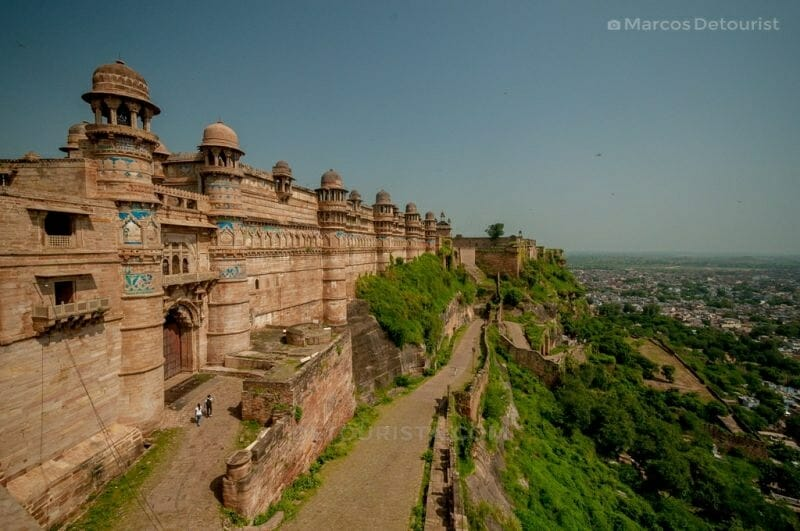 Gwalior Fortress in Gwalior, Madhya Pradesh, India