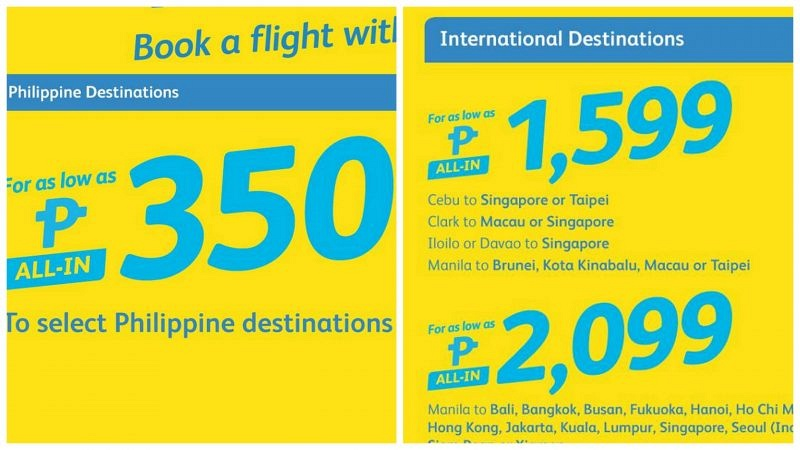 Cebu Pacific Valentines 2017 Weekend Sale – P350 ALL-IN Lowest Fare