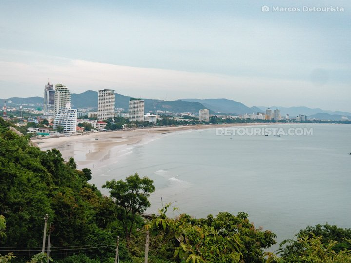 Hua Hin Beach view from Wat Khao Takiap